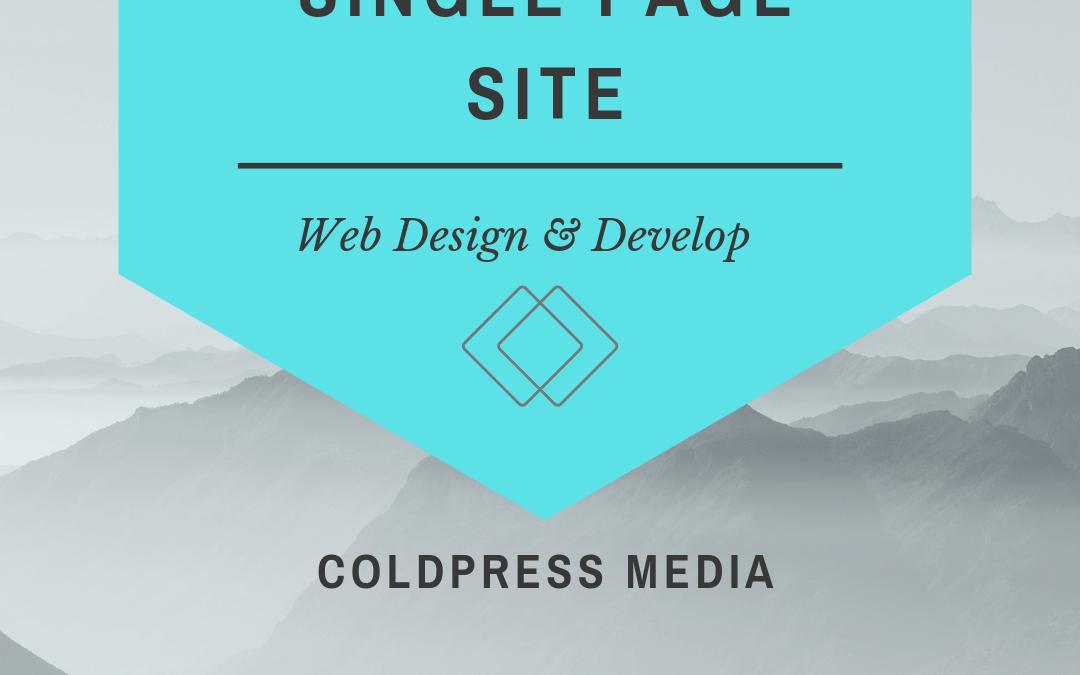 Coldpress Media – Single Page Website